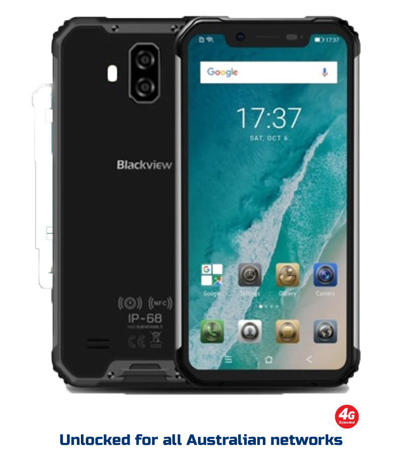 Blackview BV9600 Pro rugged phone - 6GB/128GB, Helio P60 AI chipset, IP69K,  dual 4G sim, 16MP dual Samsung rear camera, Android 8 1